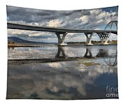 Clouds And Reflections Over Lake Champlain Tapestry