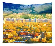 Clouds In The City Tapestry