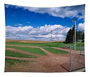 Clouds Over A Baseball Field, Field Tapestry