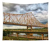 Clouds Over King Bridge Tapestry