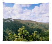 Clouds Over Mountain, Sunset Rock Tapestry