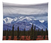 Clouds Over Mountains Tapestry
