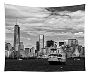 Clouds Over New York Tapestry