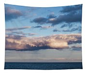 Clouds Over The Atlantic Ocean At Dusk Tapestry