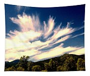 Clouds Over The Mountains Tapestry