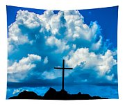 Cloudy Cross Tapestry