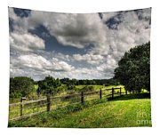 Cloudy Day In The Country Tapestry
