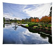 Cloudy Garden Reflections Tapestry