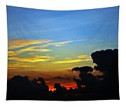 Cloudy Morning In Fort Lauderadale Tapestry