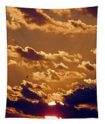 Key West Cloudy Sunset Tapestry