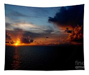 Cloudy Sunset Tapestry