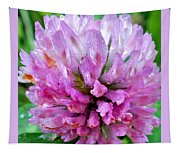 Clover Flower Upclose Tapestry