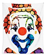 Clownin Around - Funny Circus Clown Art Tapestry