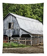 Clubhouse Road Barn Tapestry by Cricket Hackmann