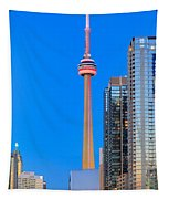 Cn Tower By Night Tapestry