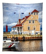 Coast Guard Station On Muskegon Lake Tapestry