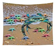 Coastal Crab Collection Tapestry