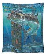 Cobia Strike In0024 Tapestry