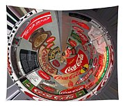 Coca Cola Signs In The Round Tapestry