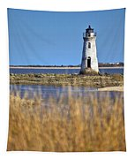 Cockspur Lighthouse In The Sanannah River Tapestry