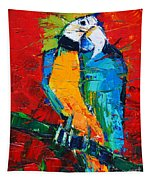 Coco The Talkative Parrot Tapestry
