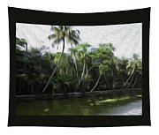 Coconut Trees And Other Plants Lined Up Tapestry