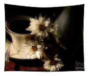 Coffee And Daisies  Tapestry