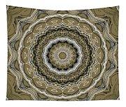 Coffee Flowers 2 Ornate Medallion Olive Tapestry