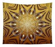 Coffee Flowers 4 Calypso Ornate Medallion Tapestry