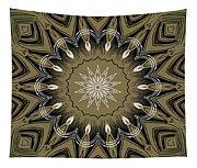 Coffee Flowers 4 Olive Ornate Medallion Tapestry