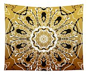 Coffee Flowers 5 Calypso Ornate Medallion Tapestry