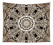 Coffee Flowers 5 Ornate Medallion Tapestry