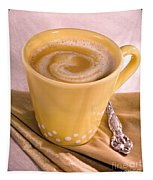Coffee In Yellow Cup Tapestry
