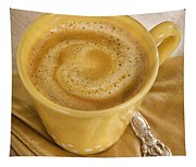 Coffee In Yellow Tapestry