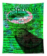 Coffee Lovers Diary 5d24472p108 Tapestry