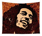 Coffee Painting Bob Marley Tapestry