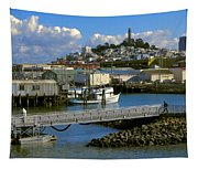 Coit Tower And Marina - San Francisco Tapestry