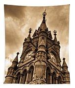 Colck Tower Stratford On Avon Sepia Tapestry
