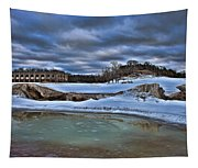 Cold Day At The Beach Tapestry
