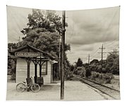 Cold Spring Train Station In Sepia Tapestry