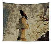 Collage Of Crow Tapestry