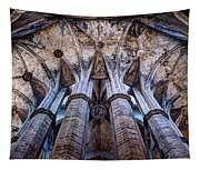 Colonnade And Stained Glass No1 Tapestry