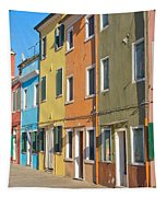 Color Houses In Row Tapestry