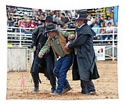 Color Rodeo Shootout Deputies Arrest Outlaw Tapestry