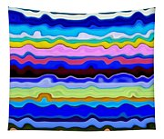 Color Waves No. 4 Tapestry