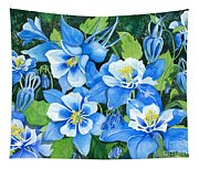 Colorado Columbines Tapestry