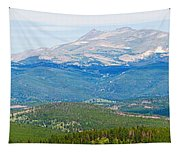 Colorado Continental Divide Panorama Hdr Crop Tapestry