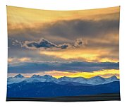 Colorado Rocky Mountain Front Range Sunset Gold Tapestry
