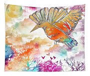 Colored Bird Tapestry