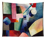 Colored Composition Of Forms   Tapestry